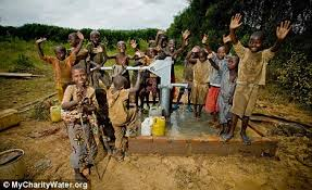 There is more joy for some one wha is sure to drink clean water at lease for a day. let's help communities  in need of clean water to donate and construct them good water supplies.