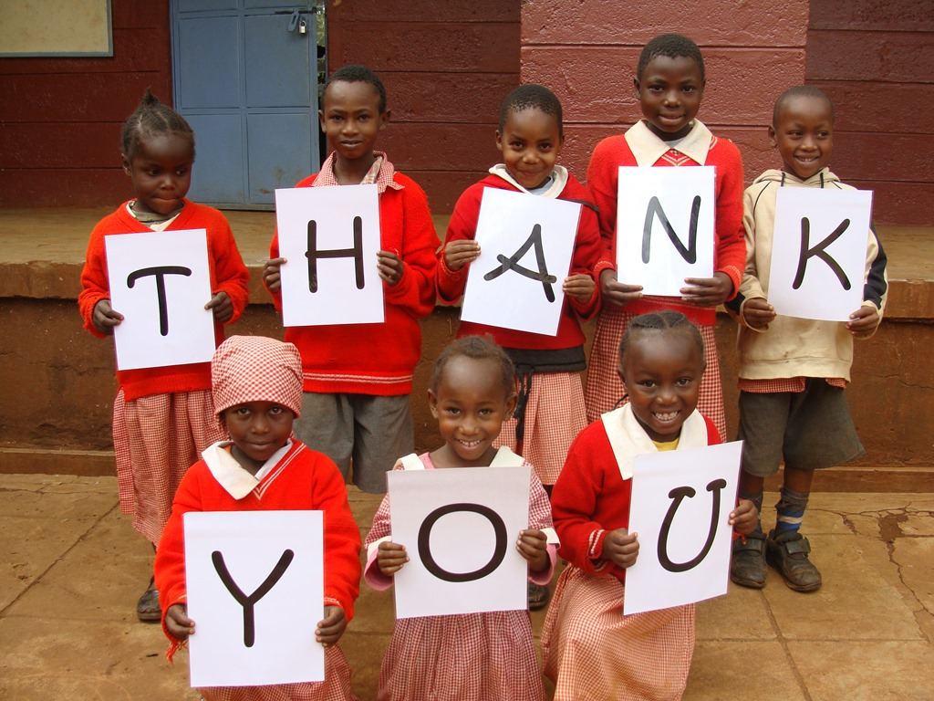 how to say thank you in africa